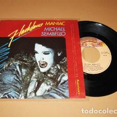 Discos de vinilo: MICHAEL SEMBELLO - MANIAC - FLASHDANCE B.S.O. - SINGLE - 1983. Lote 254284190