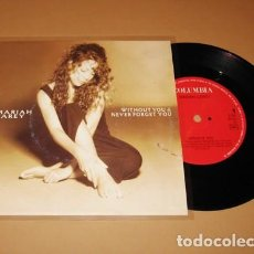 Discos de vinilo: MARIAH CAREY - WITHOUT YOU / NEVER FORGET YOU - SINGLE - 1994. Lote 254287545