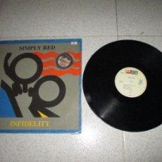 Discos de vinilo: SIMPLY RED - INFIDELITY - MAXI - SPAIN - WEA - PLS 880 - L -. Lote 254295085