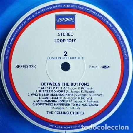 Discos de vinilo: The Rolling Stones ‎– Between The Buttons /Maravilloso vinilo de colores raros de The Stones (blue) - Foto 9 - 254303415