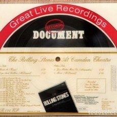 Discos de vinilo: THE ROLLING STONES – THE ROLLING STONES AT CAMDEN THEATRE 1964 / COLECCIONISTAS (COLLECTORS). Lote 254306375