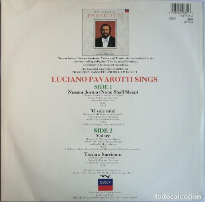 Discos de vinilo: Luciano Pavarotti, Nessun Dorma, Decca PAVOX 3 - Foto 2 - 254312680