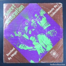 Discos de vinilo: SWEET SENSATION - PURELY BY COINCIDENCE / TOUCHED BY MAGIC - SINGLE 1976 - PYE. Lote 254348665
