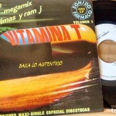 Discos de vinilo: SINGLE (VINILO)-PROMOCION- VITAMINA T VOL 1 AÑOS 90. Lote 254352840