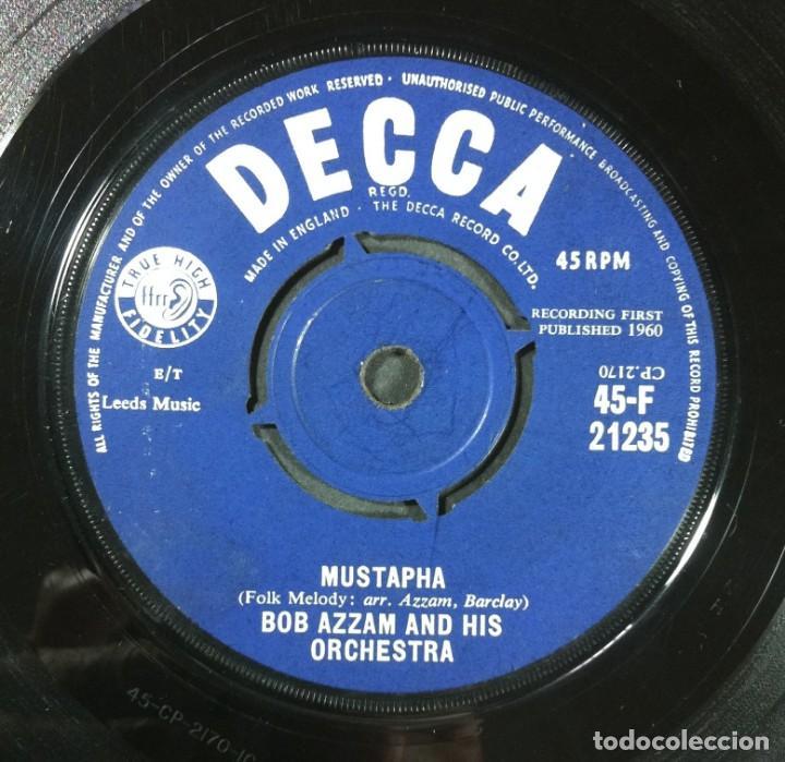 BOB AZZAM - MUSTAPHA / TINTARELLA DI LUNA - SINGLE UK 1960 - DECCA (Música - Discos - Singles Vinilo - Jazz, Jazz-Rock, Blues y R&B)