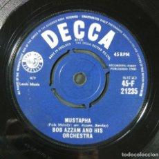 Discos de vinilo: BOB AZZAM - MUSTAPHA / TINTARELLA DI LUNA - SINGLE UK 1960 - DECCA. Lote 254358030