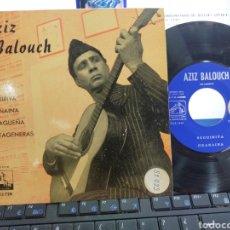 Discos de vinilo: AZIZ BALOUCH EP SEGUIRIYA + 3 EN ESPAÑOL ESPAÑA 1962 RAREZA. Lote 254358155