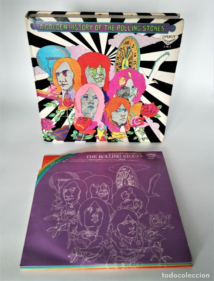 ROLLING STONES - A GOLDEN HISTORY OF THE ROLLING STONES (MEGARARO Y SOLO EN LA VERSIÓN JAPONESA) (Música - Discos - LP Vinilo - Pop - Rock - Internacional de los 70)