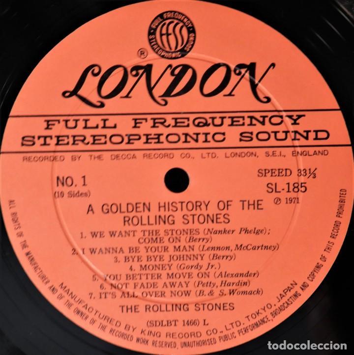 Discos de vinilo: Rolling Stones - A Golden History Of The Rolling Stones (Megararo y solo en la versión japonesa) - Foto 6 - 254386795