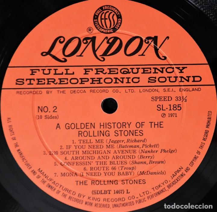 Discos de vinilo: Rolling Stones - A Golden History Of The Rolling Stones (Megararo y solo en la versión japonesa) - Foto 7 - 254386795