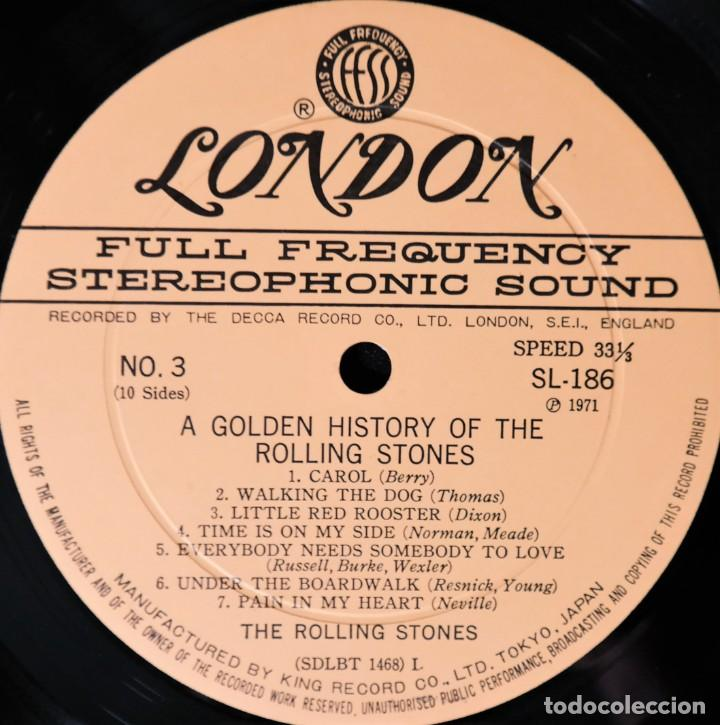 Discos de vinilo: Rolling Stones - A Golden History Of The Rolling Stones (Megararo y solo en la versión japonesa) - Foto 11 - 254386795