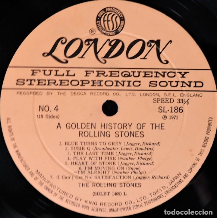 Discos de vinilo: Rolling Stones - A Golden History Of The Rolling Stones (Megararo y solo en la versión japonesa) - Foto 12 - 254386795