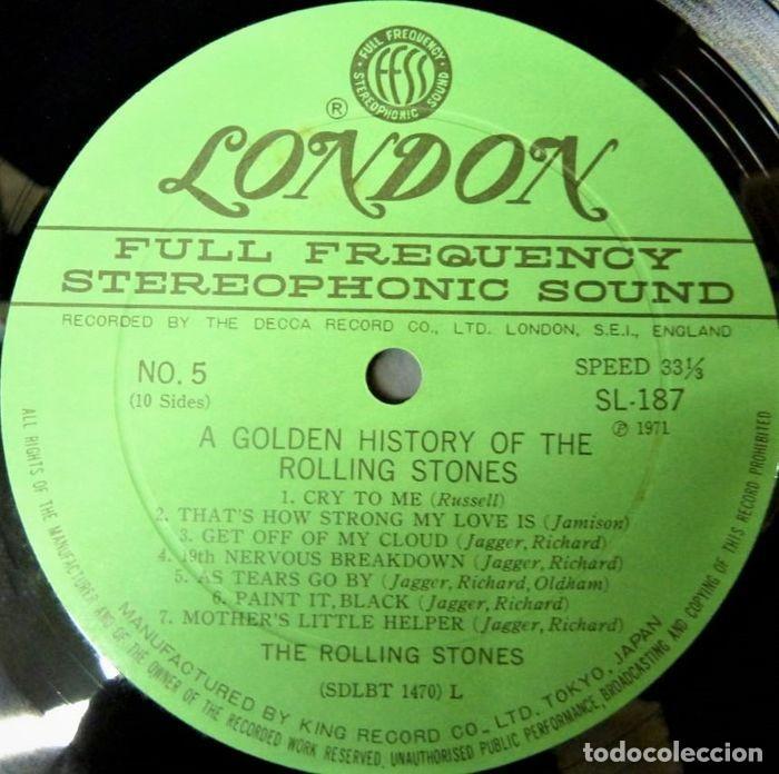 Discos de vinilo: Rolling Stones - A Golden History Of The Rolling Stones (Megararo y solo en la versión japonesa) - Foto 16 - 254386795