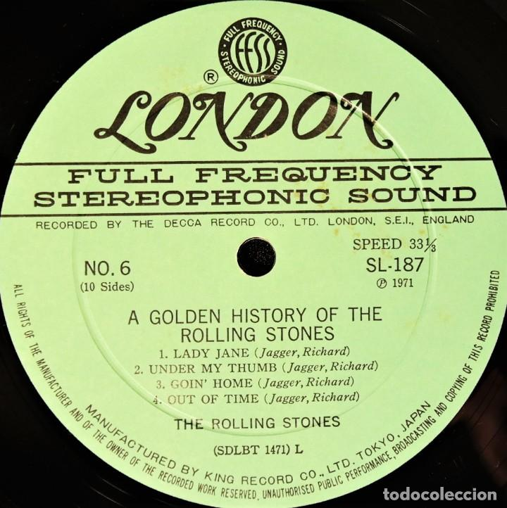 Discos de vinilo: Rolling Stones - A Golden History Of The Rolling Stones (Megararo y solo en la versión japonesa) - Foto 17 - 254386795