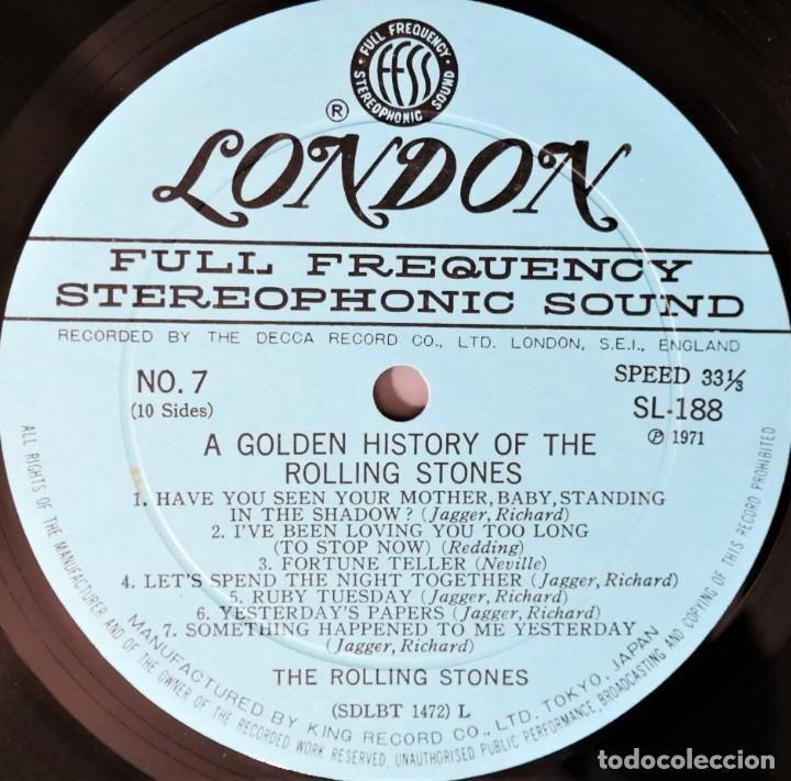 Discos de vinilo: Rolling Stones - A Golden History Of The Rolling Stones (Megararo y solo en la versión japonesa) - Foto 23 - 254386795
