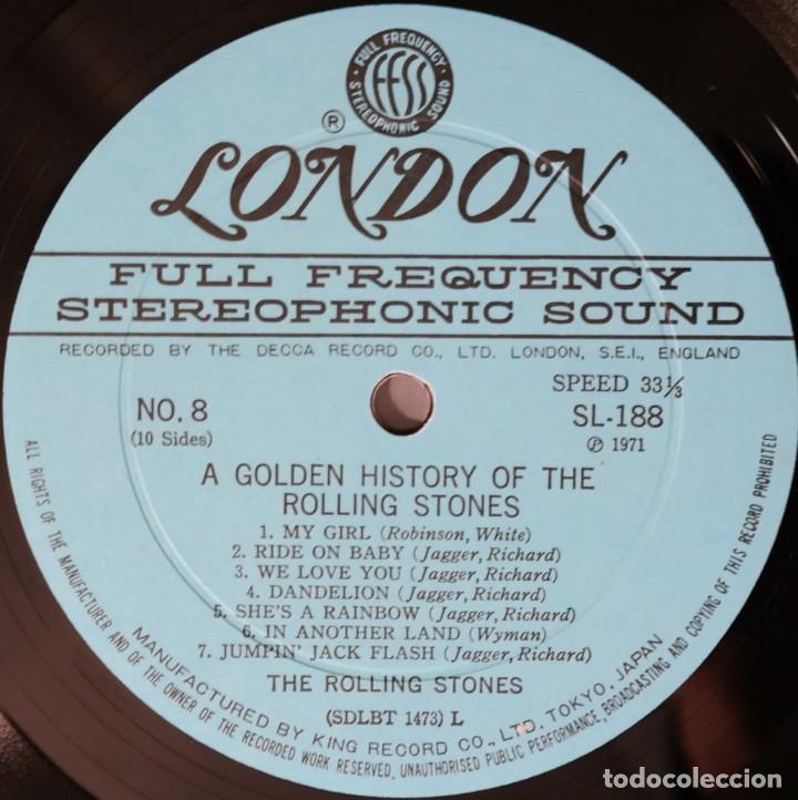 Discos de vinilo: Rolling Stones - A Golden History Of The Rolling Stones (Megararo y solo en la versión japonesa) - Foto 24 - 254386795