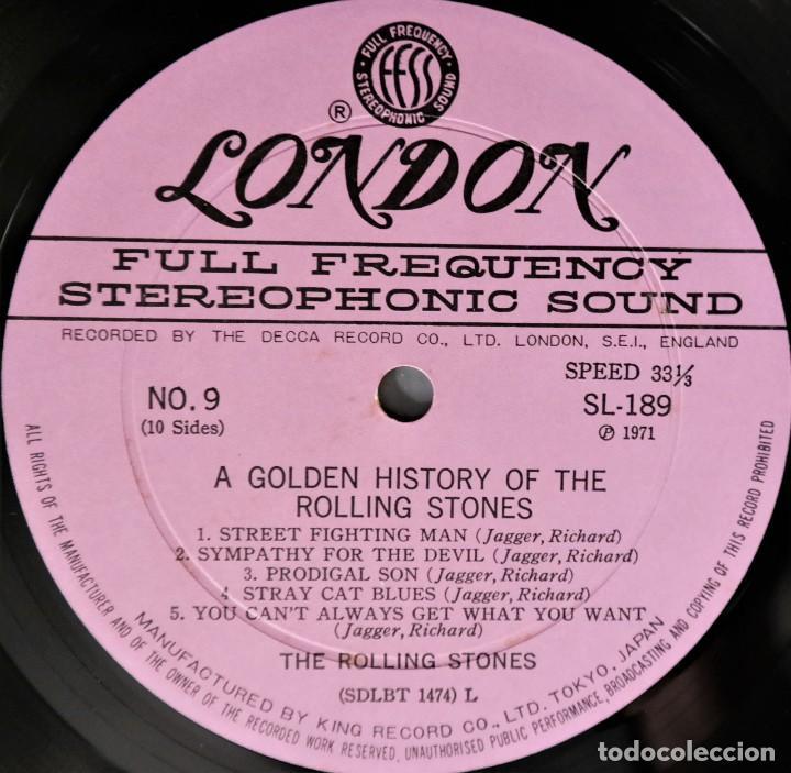 Discos de vinilo: Rolling Stones - A Golden History Of The Rolling Stones (Megararo y solo en la versión japonesa) - Foto 28 - 254386795