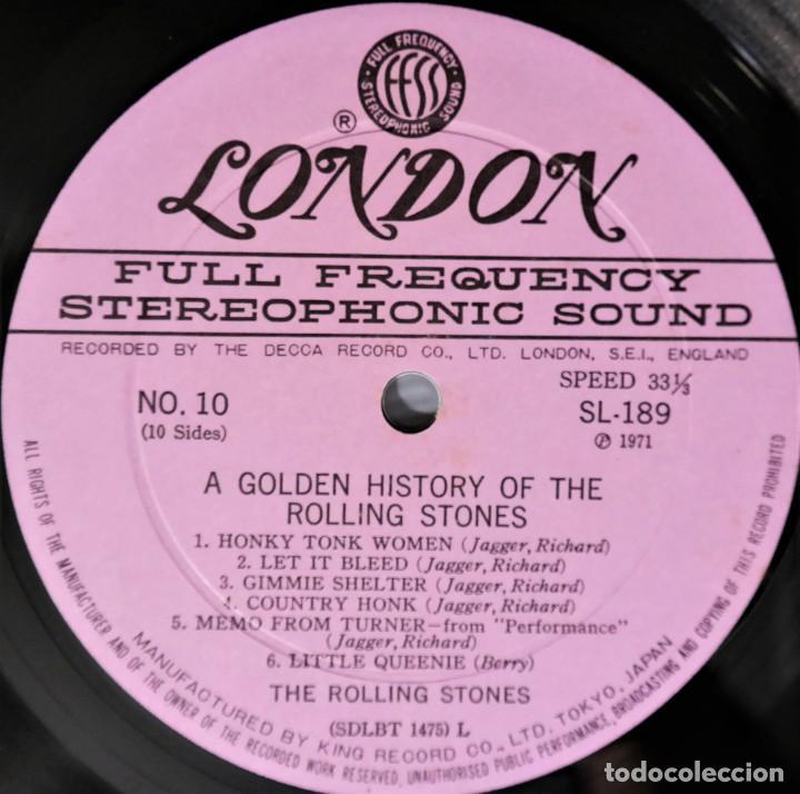 Discos de vinilo: Rolling Stones - A Golden History Of The Rolling Stones (Megararo y solo en la versión japonesa) - Foto 29 - 254386795