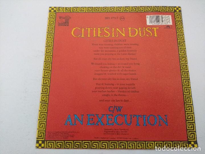 Discos de vinilo: SIOUXSIE AND THE BANSHEES/CITIESIN DUST/SINGLE PUNK. - Foto 3 - 254401610