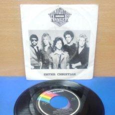 Discos de vinilo: SINGLE DISCO VINILO NIGHT RANGER SISTER CHRISTIAN. Lote 254401685