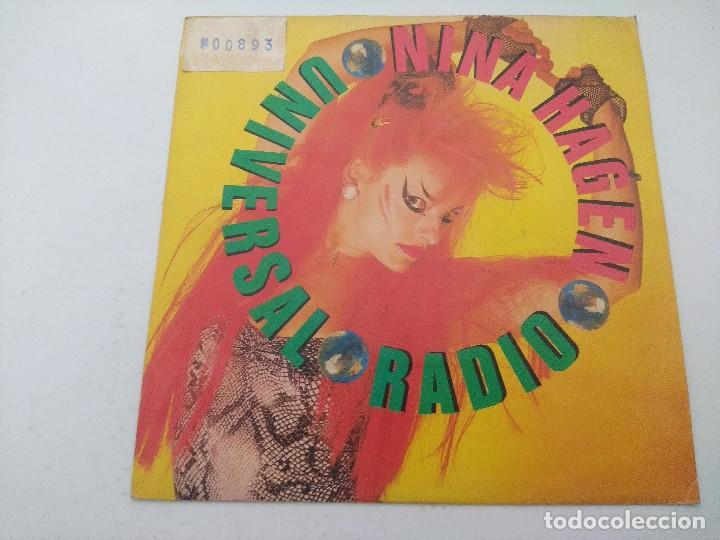 NINA HAGEN/UNIVERSAL RADIO/SINGLE PUNK PROMOCIONAL. (Música - Discos - Singles Vinilo - Punk - Hard Core)