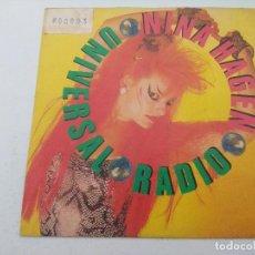 Discos de vinilo: NINA HAGEN/UNIVERSAL RADIO/SINGLE PUNK PROMOCIONAL.. Lote 254402265