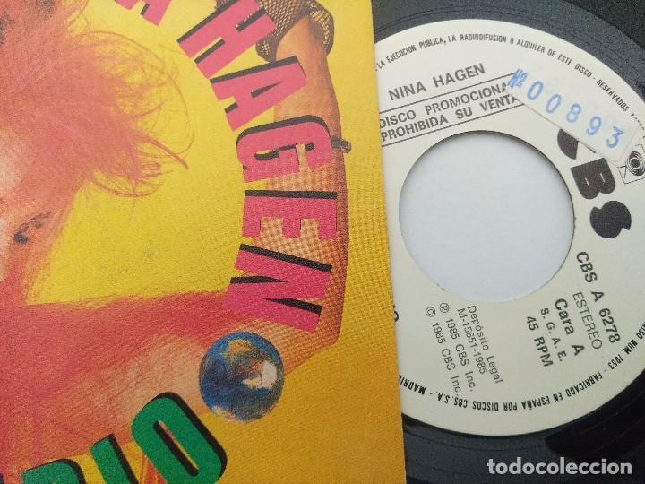 Discos de vinilo: NINA HAGEN/UNIVERSAL RADIO/SINGLE PUNK PROMOCIONAL. - Foto 2 - 254402265