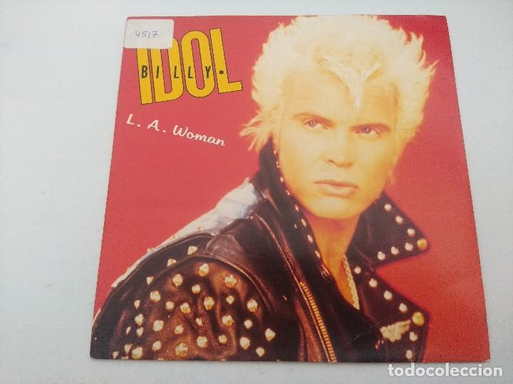BILLY IDOL/L.A.WOMAN/SINGLE PUNK. (Música - Discos - Singles Vinilo - Punk - Hard Core)