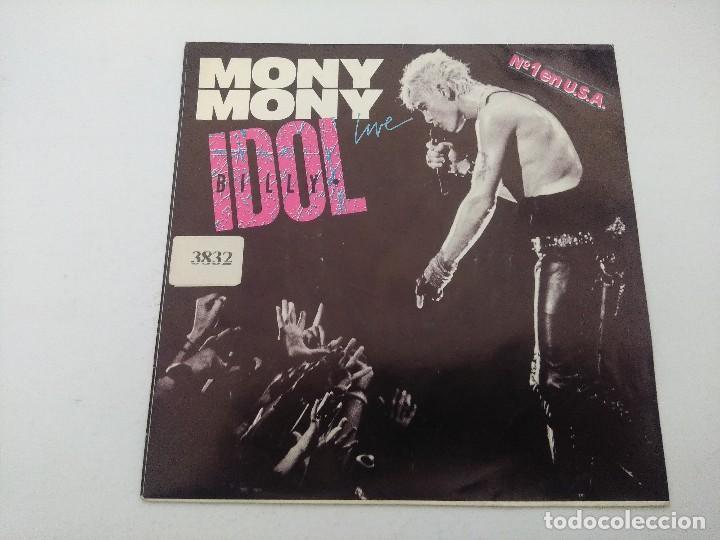 BILLY IDOL/MONY MONY LIVE/SINGLE PUNK. (Música - Discos - Singles Vinilo - Punk - Hard Core)