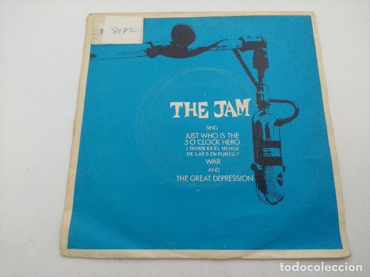 THE JAM/JUST WHO IS THE 50 O'CLOCK HERO/SINGLE PUNK. (Música - Discos - Singles Vinilo - Punk - Hard Core)