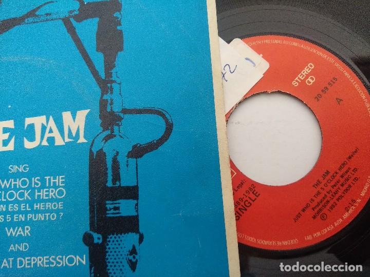 Discos de vinilo: THE JAM/JUST WHO IS THE 50 OCLOCK HERO/SINGLE PUNK. - Foto 2 - 254404920