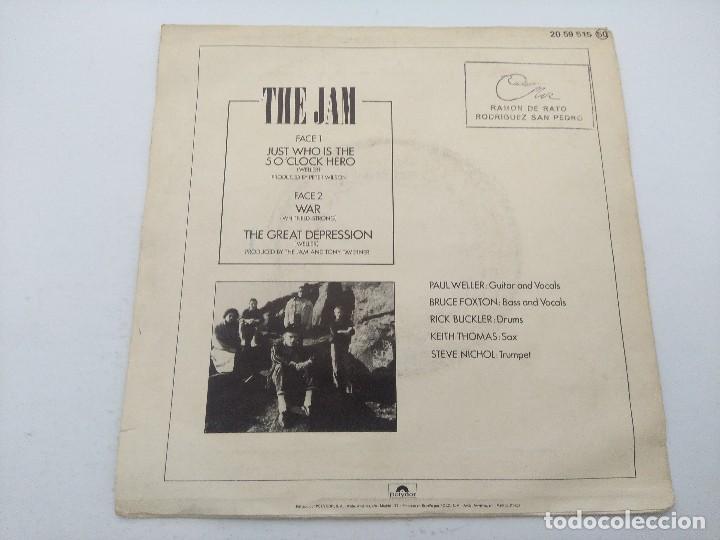 Discos de vinilo: THE JAM/JUST WHO IS THE 50 OCLOCK HERO/SINGLE PUNK. - Foto 3 - 254404920