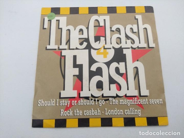 THE CLASH/FLASH MEDLEY/SINGLE PUNK PROMOCIONAL. (Música - Discos - Singles Vinilo - Punk - Hard Core)