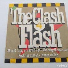 Discos de vinilo: THE CLASH/FLASH MEDLEY/SINGLE PUNK PROMOCIONAL.. Lote 254406920