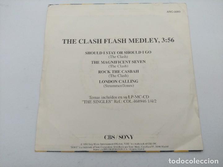 Discos de vinilo: THE CLASH/FLASH MEDLEY/SINGLE PUNK PROMOCIONAL. - Foto 3 - 254406920