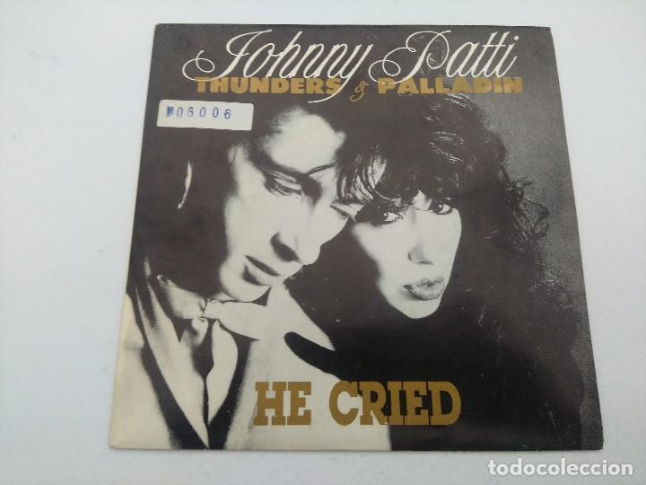 JOHNNY THUNDERS & PATTI PALLADIN/HE CRIED/SINGLE PUNK PROMOCIONAL. (Música - Discos - Singles Vinilo - Punk - Hard Core)