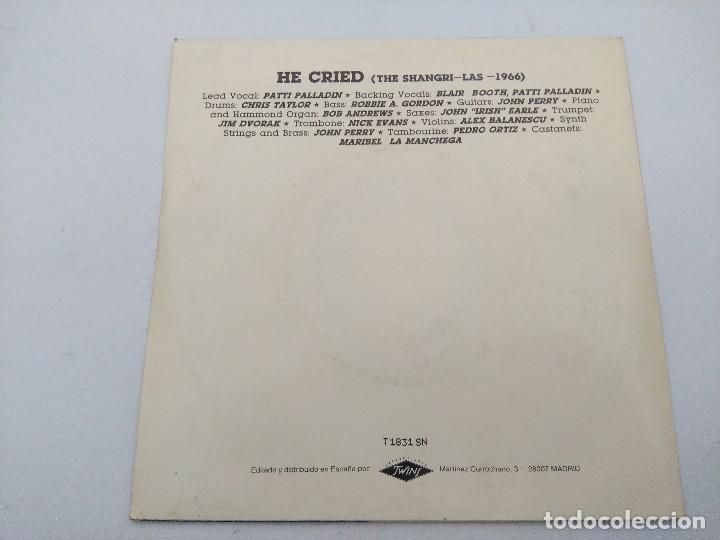 Discos de vinilo: JOHNNY THUNDERS & PATTI PALLADIN/HE CRIED/SINGLE PUNK PROMOCIONAL. - Foto 3 - 254407275