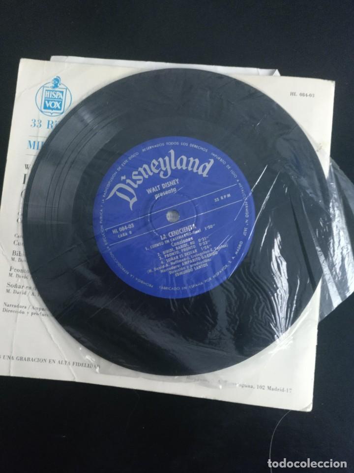 Discos de vinilo: LA CENICIENTA , WALT DISNEY. Discolibro 1967 - Foto 3 - 254426900