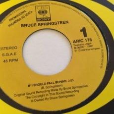 "Discos de vinilo: BRUCE SPRINGSTEEN - IF I SHOULD FALL BEHIND - PROMO RADIO SINGLE 7"" - 1992 SPAIN. Lote 254451285"