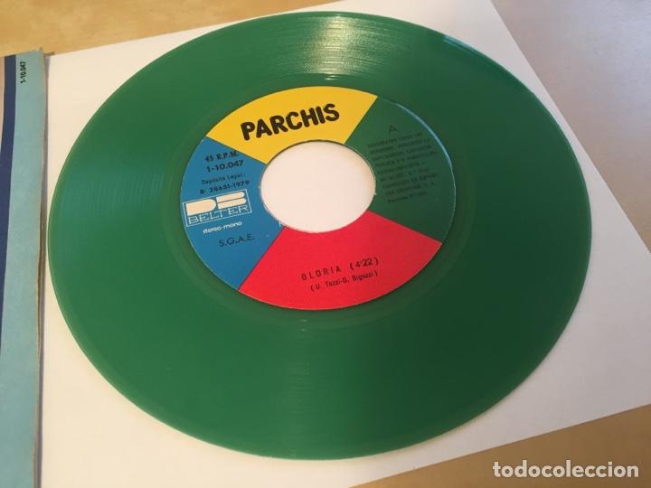 """Discos de vinilo: Parchis - Gloria / En La Armada (VINILO COLOR VERDE) - RADIO SINGLE 7"""" - 1979 SPAIN BELTER - Foto 2 - 254452295"""