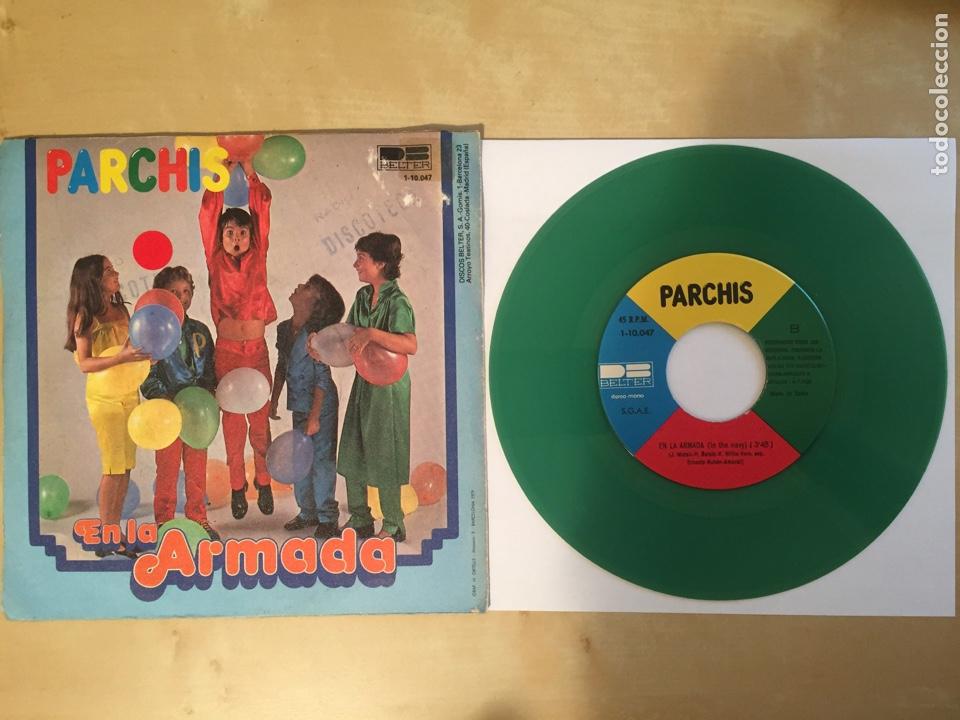 """Discos de vinilo: Parchis - Gloria / En La Armada (VINILO COLOR VERDE) - RADIO SINGLE 7"""" - 1979 SPAIN BELTER - Foto 3 - 254452295"""