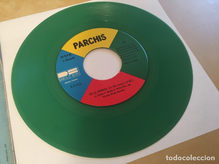 """Discos de vinilo: Parchis - Gloria / En La Armada (VINILO COLOR VERDE) - RADIO SINGLE 7"""" - 1979 SPAIN BELTER - Foto 4 - 254452295"""