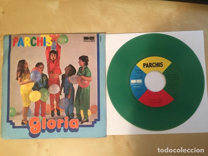 "PARCHIS - GLORIA / EN LA ARMADA (VINILO COLOR VERDE) - RADIO SINGLE 7"" - 1979 SPAIN BELTER (Música - Discos - Singles Vinilo - Música Infantil)"