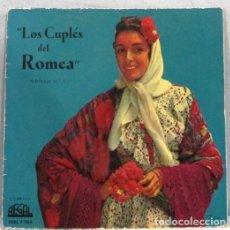 Discos de vinilo: MARGARITA SANCHEZ - LOS COUPLES DEL ROMEA - SELECCION 1 - SINGLE. Lote 254481275