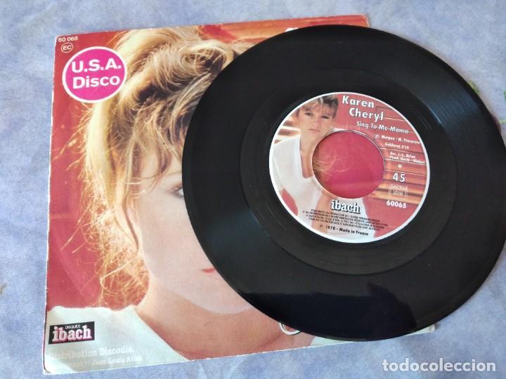 Discos de vinilo: Karen Cheryl – Sing To Me Mama / Sweet Melody, 1978 - Foto 2 - 254481845