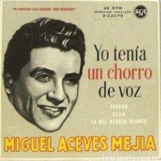 Discos de vinilo: MIGUEL ACEVES MEJIA - YO TENIA UN CHORRO DE VOZ - DOBLE SINGLE. Lote 254482640