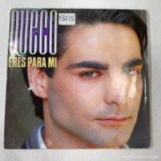 Discos de vinilo: SINGLE QUECO - ERES PARA MI + HOJA PROMOCIONAL - ESPAÑA - AÑO 1986. Lote 254483550