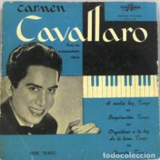 Discos de vinilo: CARMEN CAVALLARO - A MEDIA LUZ - SINGLE. Lote 254483800