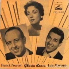 Discos de vinilo: FRANCK PORCEL GLORIA LASSO - LUIS MARIANO - SINGLE. Lote 254484365