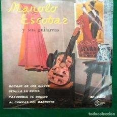 Discos de vinilo: MANOLO ESCOBAR // DEBAJO DE LOS OLIVOS+3 // EP DE 1959 RF-4888 , BUEN ESTADO. Lote 254484770